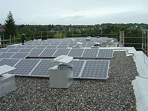 Solartechnik, ref_pv, Photovoltaics,  Germany, Rottenburg, Flat roof mounted system, 19,98kWp