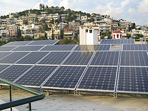 Solartechnik, ref_pv, Photovoltaics,  Greece, Athen, Flat roof mounted system, 10kWp