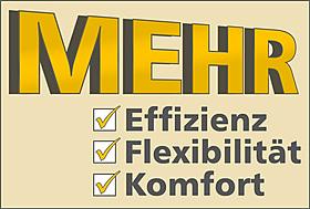 Mehr Effizienz, mehr Flexibilität, mehr Komfort